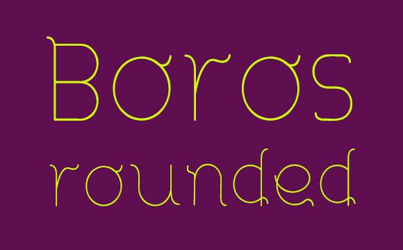 丸みを帯びた Boros フリー フォント