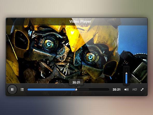 クールなログイン フォーム - 排他的な景品 !ビデオ プレーヤー UI 無料 psd ファイル