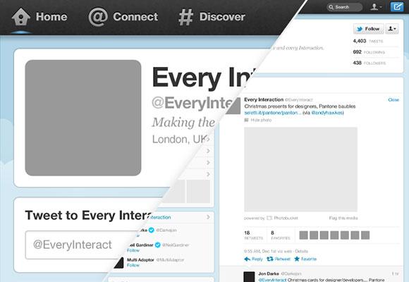 新しい Twitter の GUI 無料 psd ファイル