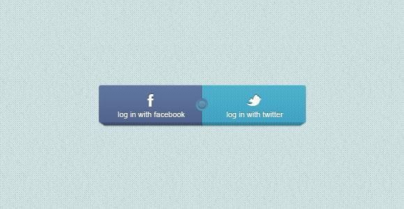 暗いステッチされた進行状況バー無料 psd ファイルFacebook/Twitter PSD ログイン ボタン