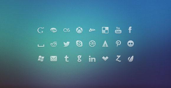新しいパターン無料 PNGソーシャル ネットワークの PSD アイコン