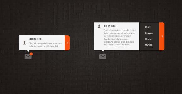 短い電子メール ウィジェット PSD