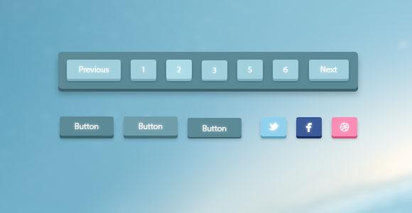 3 D の改ページ調整および PSD のボタン