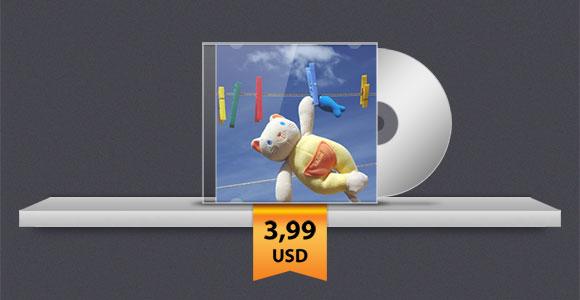 CD が付いている棚 PSD をカバーします。