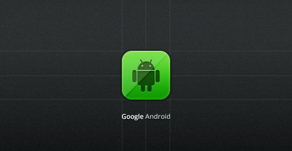 Google の Android の PSD アイコン