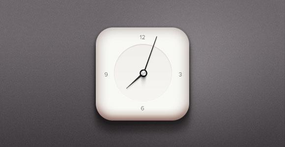 時計のアイコン無料 psd ファイル
