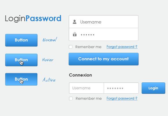 単純なログイン フォーム無料 psd ファイル