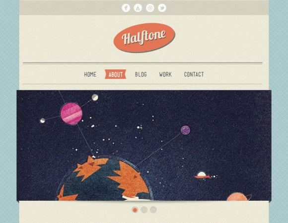 ハーフトーン - 無料の HTML テンプレート