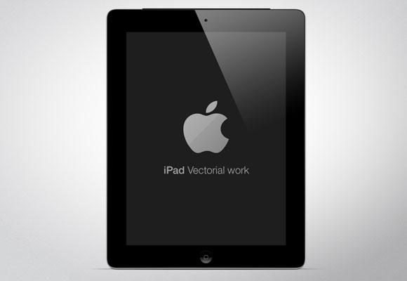 新しい iPad の PSD のモックアップ