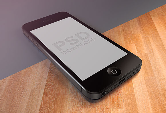 iPhone 5 3D PSD モックアップ