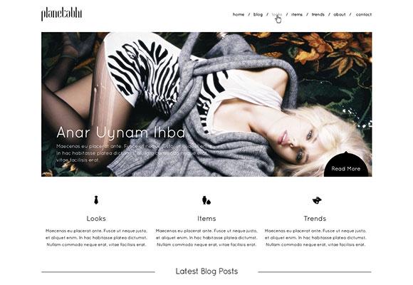 最小限のウェブサイト テンプレート無料 psd ファイル