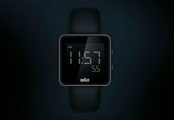 ブラウン デジタル時計無料 psd ファイル