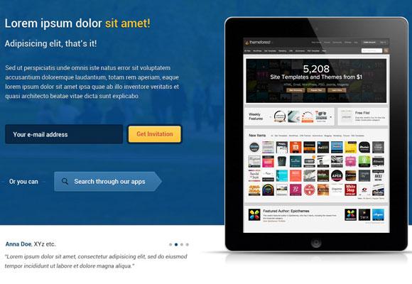 回 Caja: 無料注目のワードプレスのテーマMeteorApp - PSD のウェブサイト テンプレート
