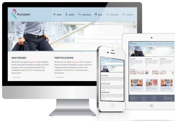 応答 Proximet-無料ホームページ テンプレート