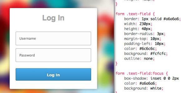 CSS ログイン & 登録フォーム