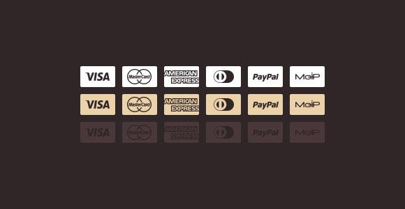 クレジット カードの psd ファイルのアイコン