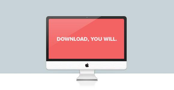 iMac PSD モックアップ