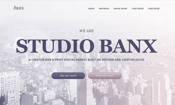 Banx: 代理店無料 PSD テンプレート