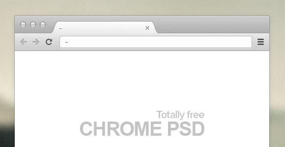 Chrome ブラウザー PSD モックアップ