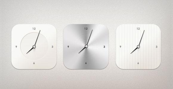3 スタイル PSD 現代時計