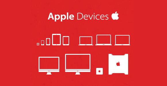 PSD のアップル デバイスのアイコンを設定します。