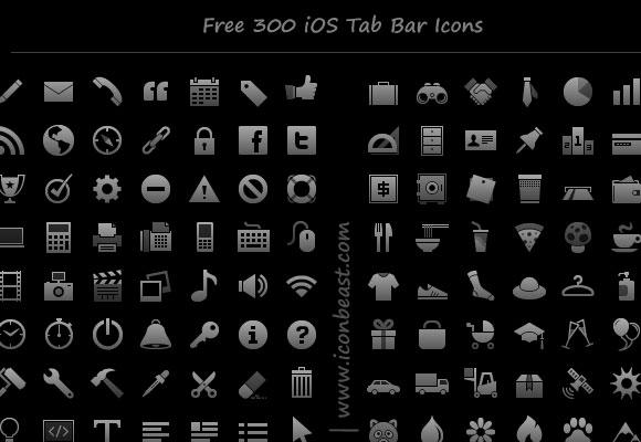 300 無料の PNG アイコンと iPhone および iPad アプリのための記号