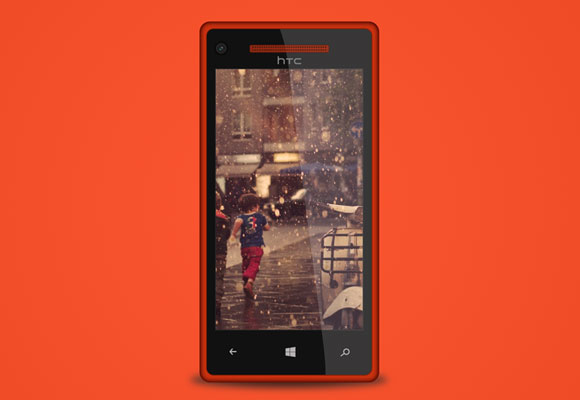 HTC 8x PSD モックアップ