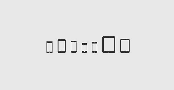 モバイル デバイスのアイコン V 2.0 PSD