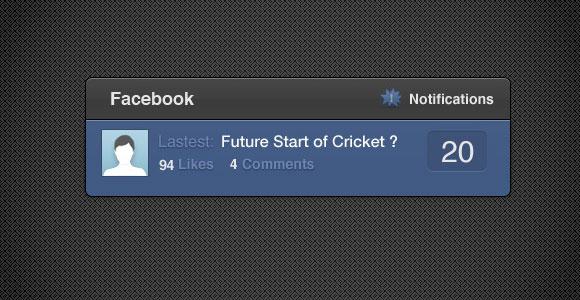 Facebook の通知の HTML/CSS のウィジェット
