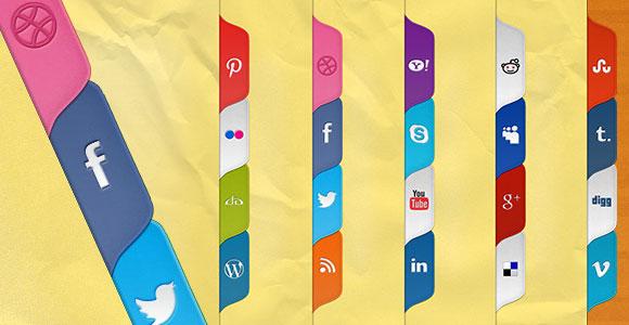 PSD + CSS のソーシャル メディア タブ