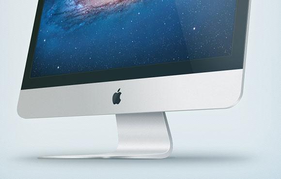 新しい iMac の PSD のモックアップ