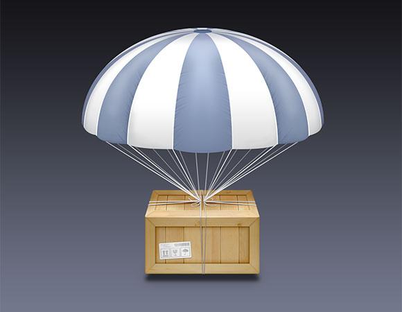 AirDrop アイコン PSD