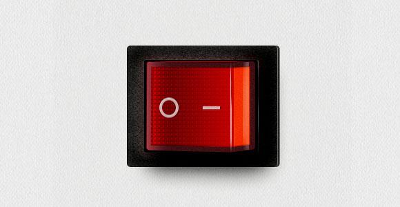 赤い電源スイッチ無料 psd ファイル