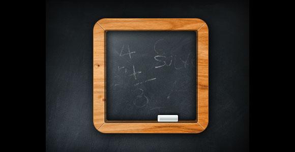 最小限の黒板アイコン PSD