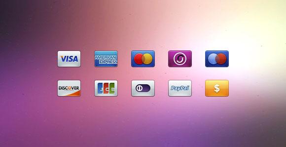 クレジット カード支払いアイコン PSD