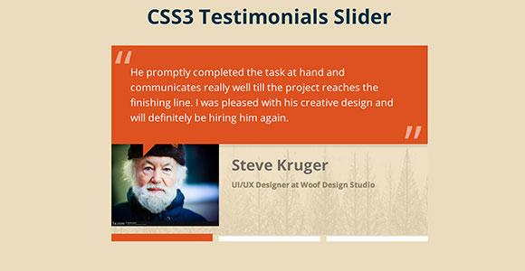 CSS3 メトロ証言スライダー