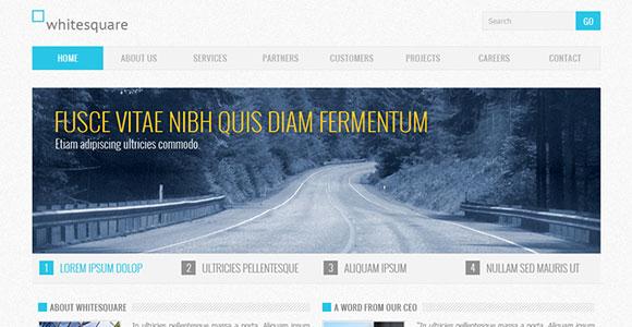 企業ブルー無料 PSD のウェブサイト テンプレート
