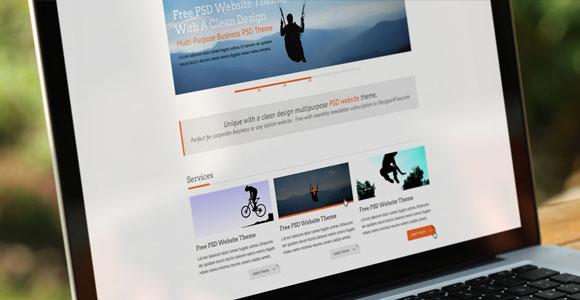 きれいなポートフォリオ無料 PSD web テンプレート