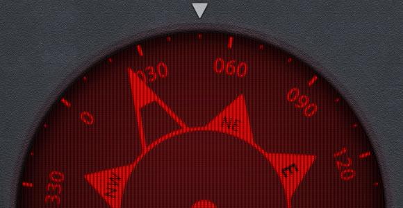 コンパス アプリ UI PSD
