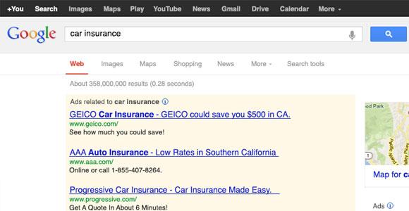 Google 検索エンジン結果 PSD モックアップ
