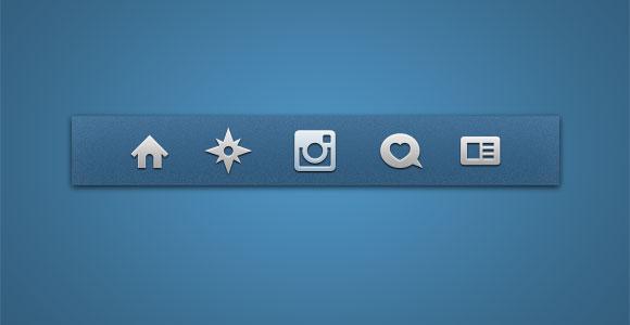 Instagram の PSD アイコン