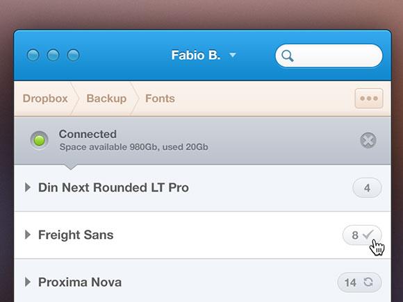 フロント エンドのバックアップ ・ アプリケーション UI PSD
