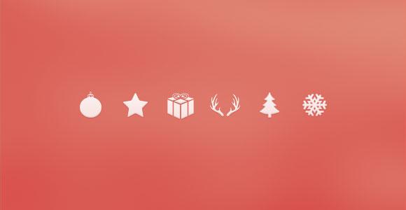 クリスマスのアイコンを psd ファイル