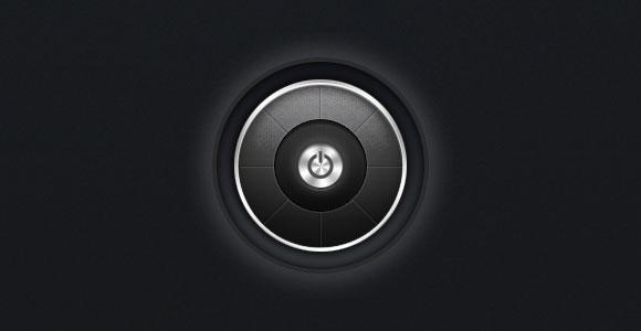 暗黒の力ボタン PSD