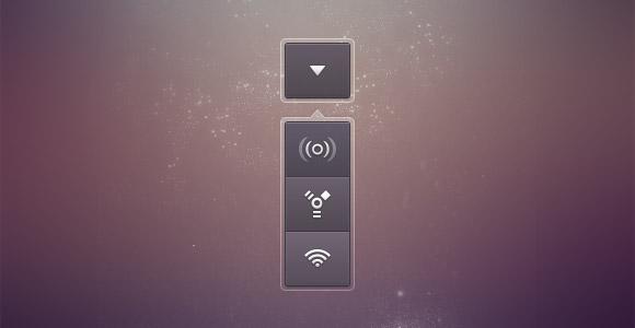 通信ドロップ ダウン ボタン