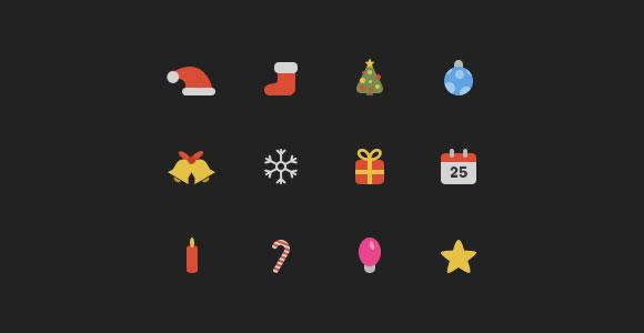 色 PSD クリスマスのアイコン