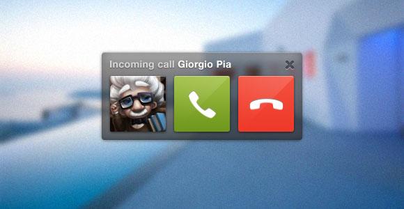 Skype 通話 UI PSD