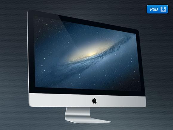 """27""""iMac 無料 PSD モックアップ"""