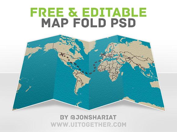 無料 PSD 地図倍