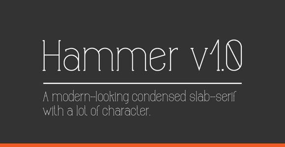 ハンマー v1.0 のフリー フォント